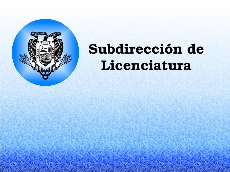 Subdirección de Licenciatura