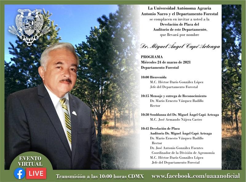 Invitación: Homenaje al Dr. Miguel Ángel Capó Arteaga