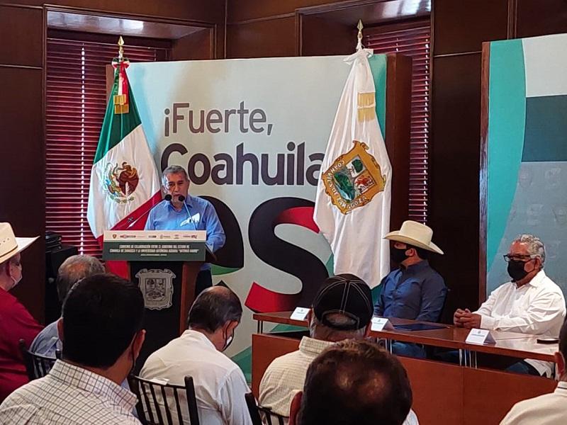 Firma Convenio: UAAAN-Gobierno del Edo. de Coahuila de Zaragoza-SEDER